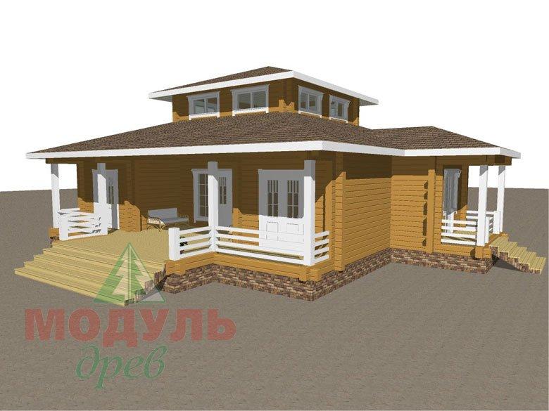 Дом из бруса «Улан-Удэ» - макет 2
