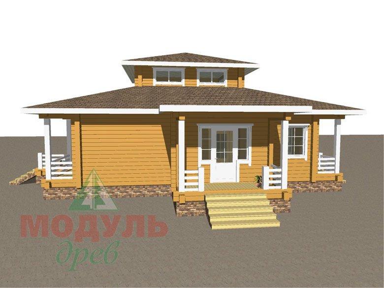 Дом из бруса «Улан-Удэ» - макет 3
