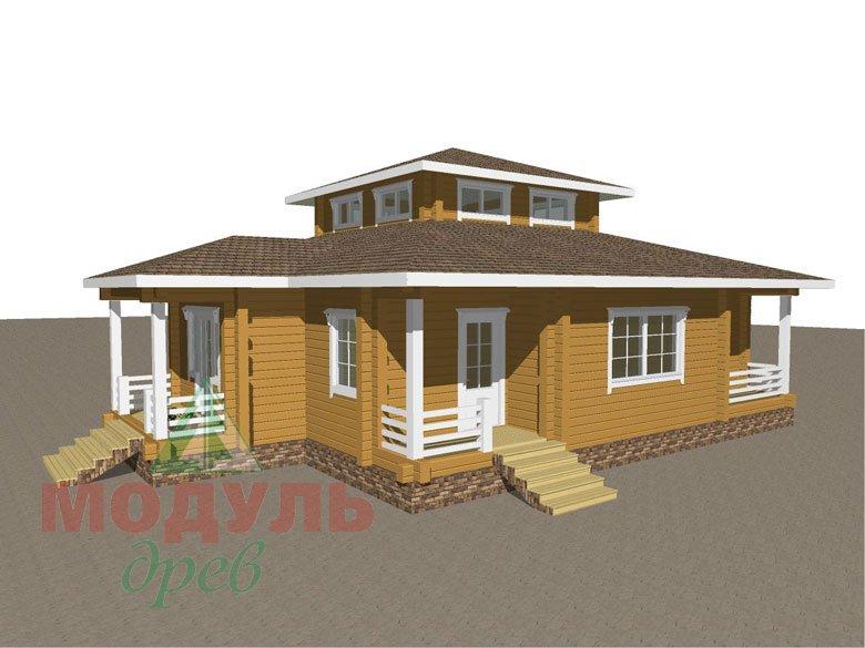 Дом из бруса «Улан-Удэ» - макет 4