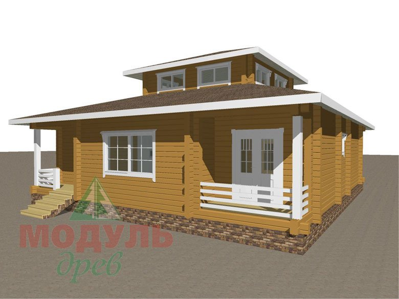 Дом из бруса «Улан-Удэ» - макет 5