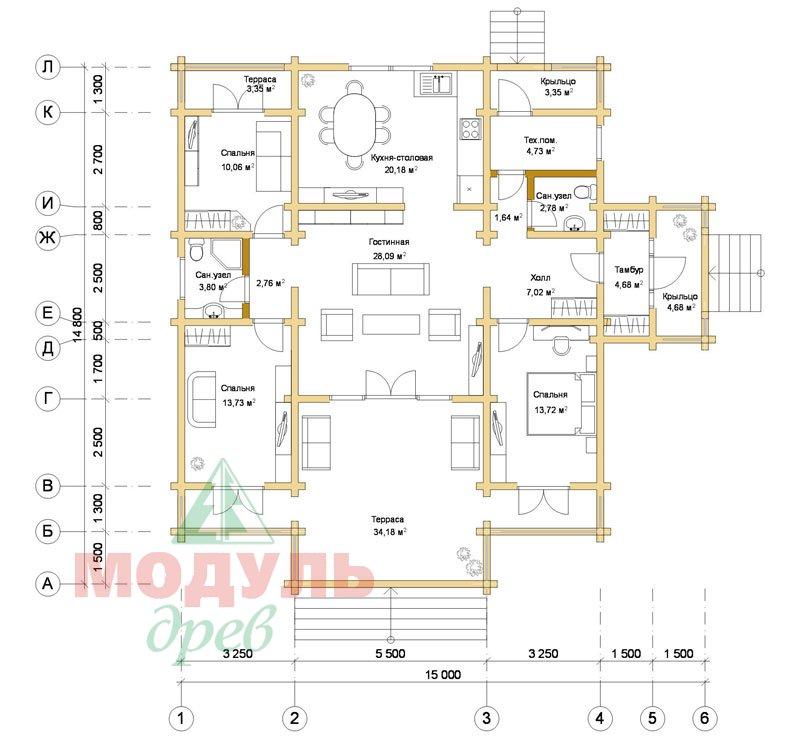 Дом из бруса «Улан-Удэ» - планировка