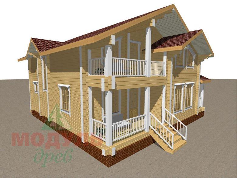 Проект дома из бруса «Усадьба» - макет 1