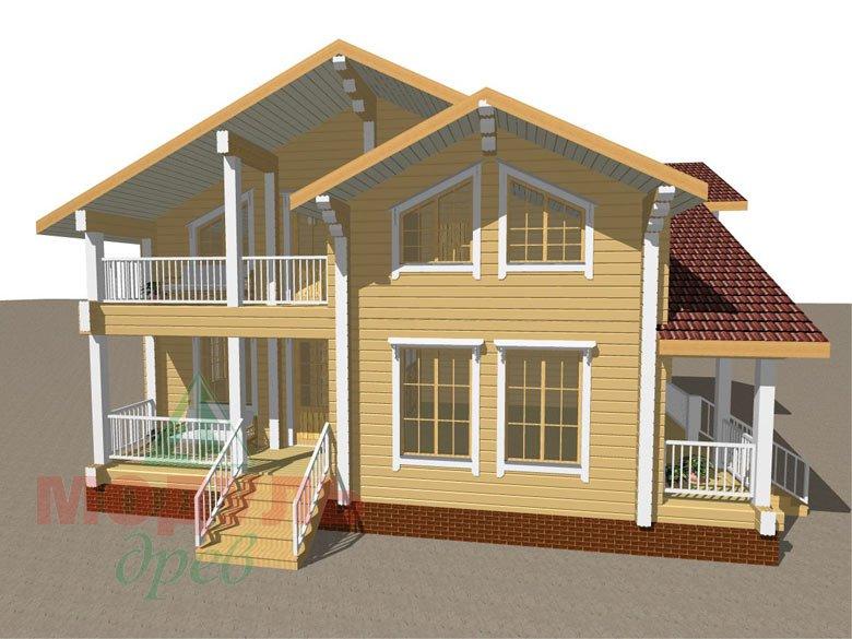 Дом из бруса «Усадьба» - макет 2