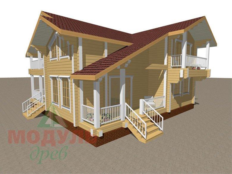 Дом из бруса «Усадьба» - макет 3