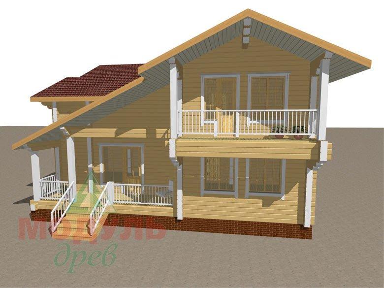 Дом из бруса «Усадьба» - макет 4
