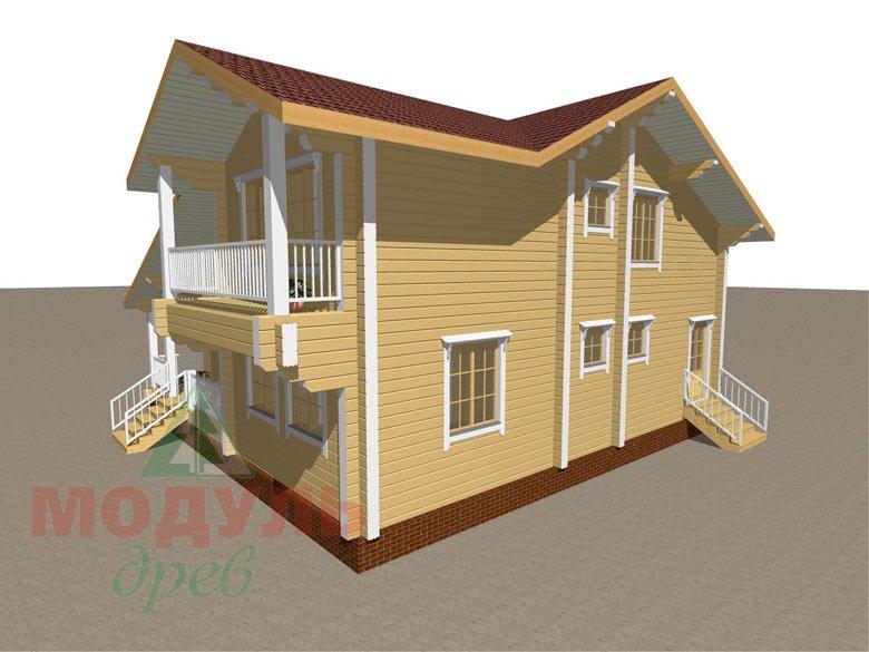 Дом из бруса «Усадьба» - макет 5