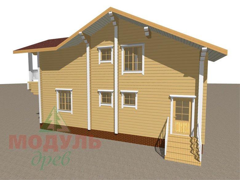 Дом из бруса «Усадьба» - макет 6