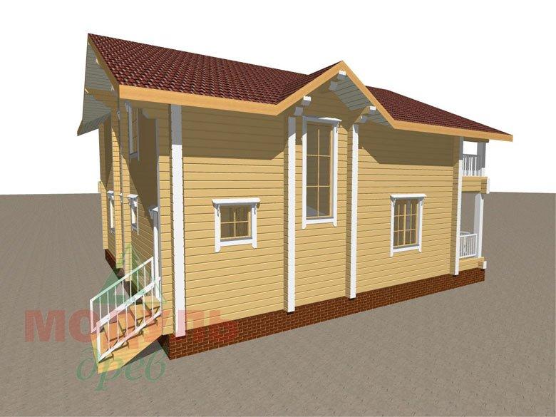 Дом из бруса «Усадьба» - макет 7