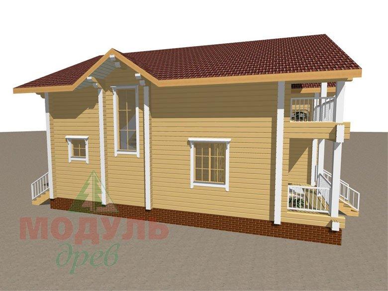 Дом из бруса «Усадьба» - макет 8