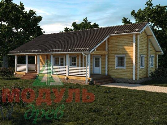 Проект дома из бруса «В бору»