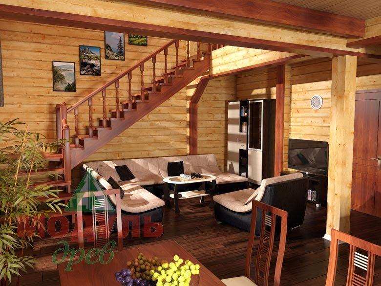 Брусовой дом «Виктория» -макет 3