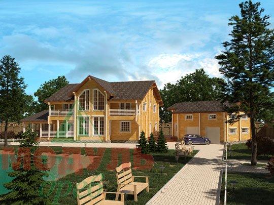 Комфортабельный проект дома из бруса «Волгоград»