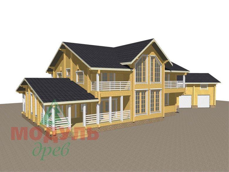 Проект дома из бруса «Волгоград» - макет 1