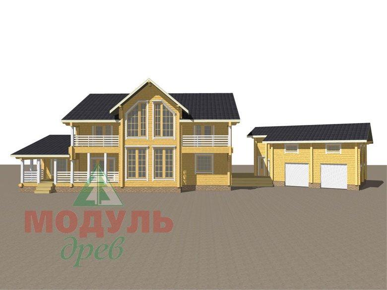Проект дома из бруса «Волгоград» - макет 2