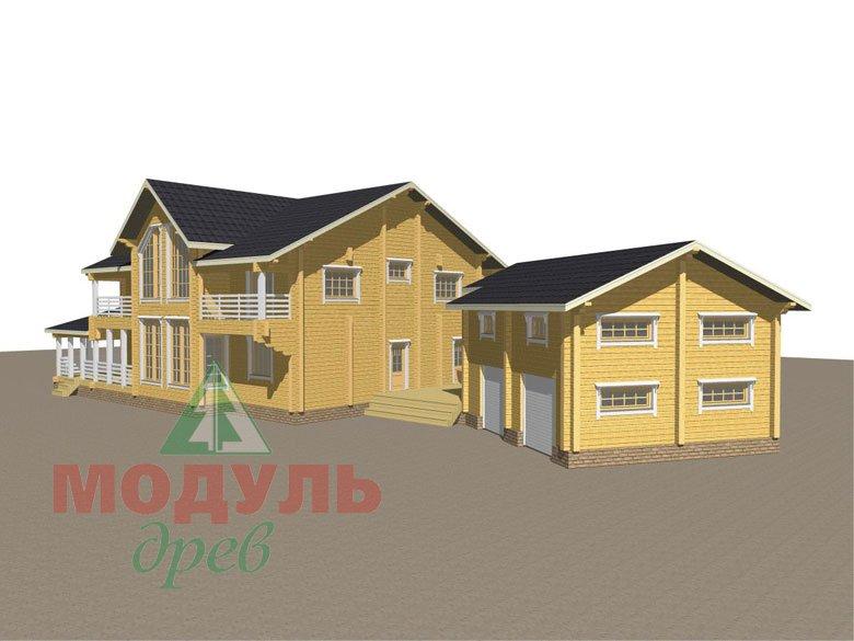 Проект дома из бруса «Волгоград» - макет 3