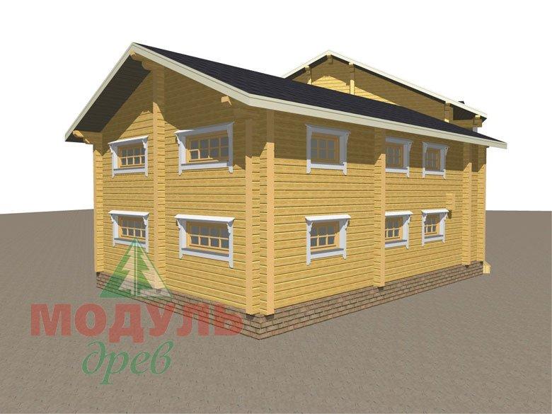 Проект дома из бруса «Волгоград» - макет 4