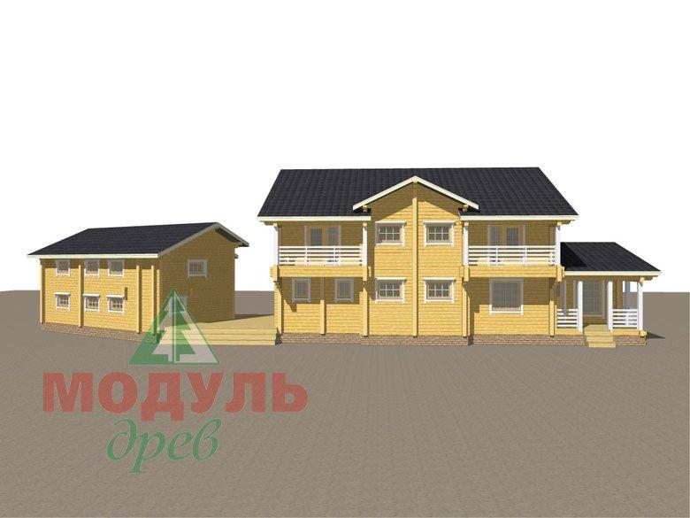 Проект дома из бруса «Волгоград» - макет 6