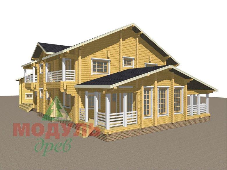 Проект дома из бруса «Волгоград» - макет 7