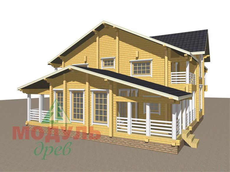 Проект дома из бруса «Волгоград» - макет 8