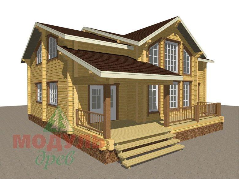 Проект дома из бруса «Вологда» - макет 1