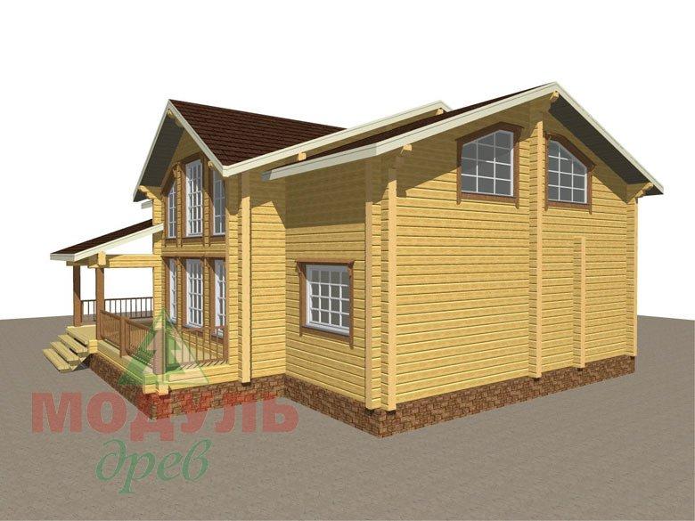 Дом из бруса «Вологда» - макет 3