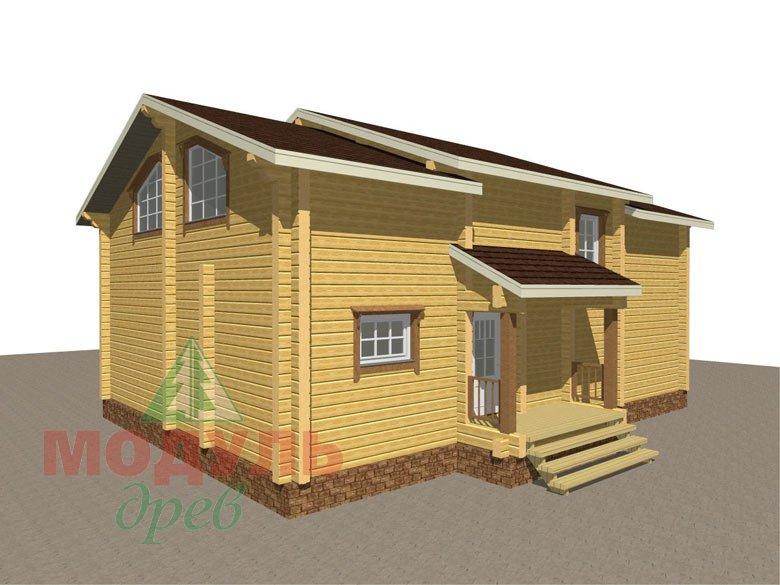 Дом из бруса «Вологда» - макет 4