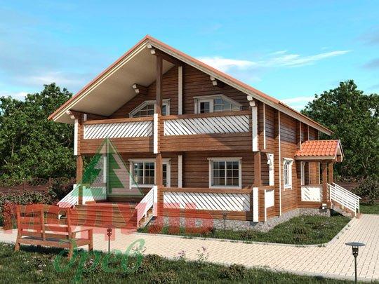Проект дома из бруса «Вятка»