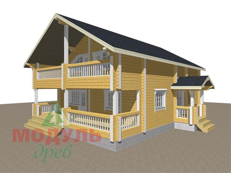 Проект дома из бруса «Вятка» - макет 1