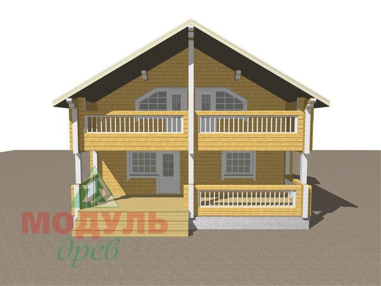 Дом из бруса «Вятка» - макет 2