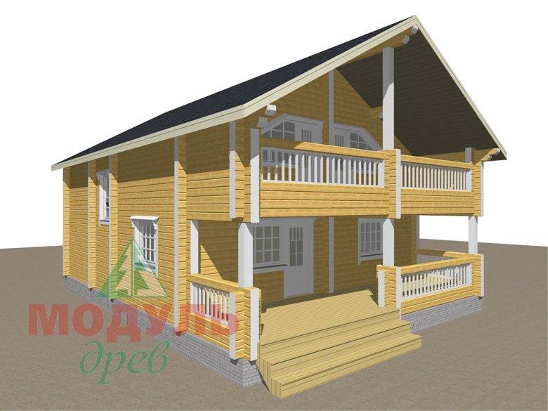 Дом из бруса «Вятка» - макет 3