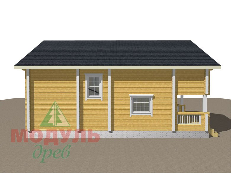 Дом из бруса «Вятка» - макет 4