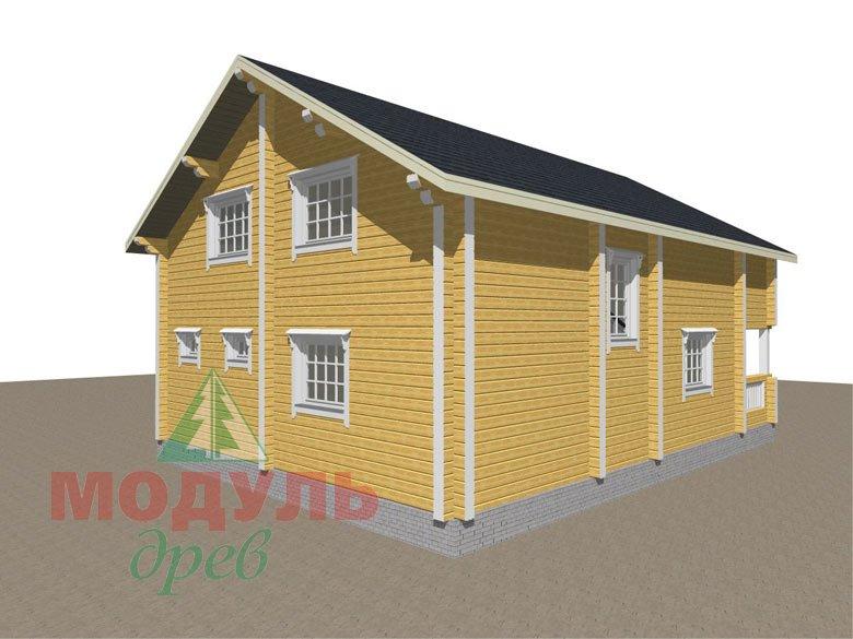 Дом из бруса «Вятка» - макет 5