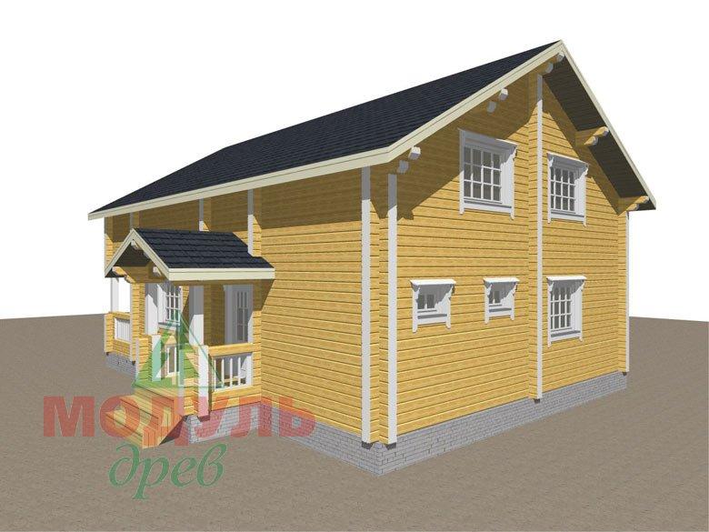 Дом из бруса «Вятка» - макет 7