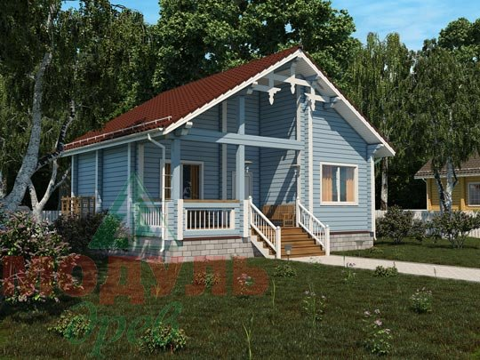 Проект дома из бруса «Вязьма»