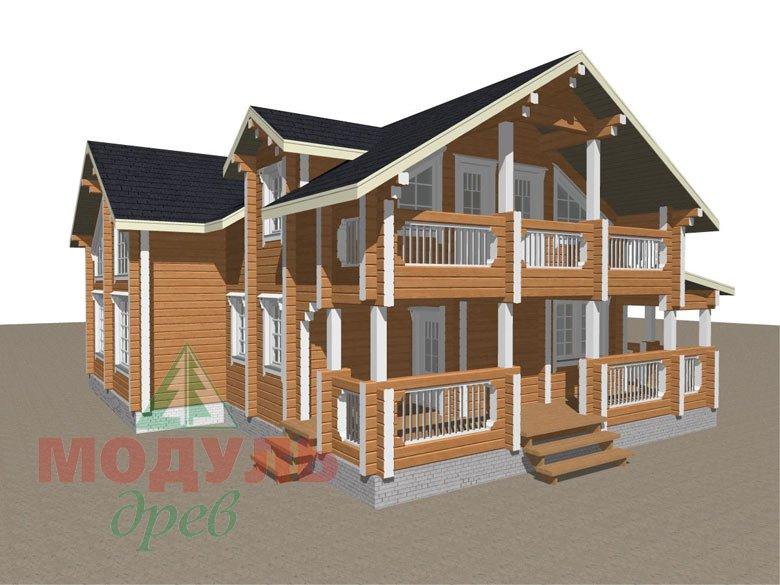 Проект дома из бруса «Янтарный» - макет 3