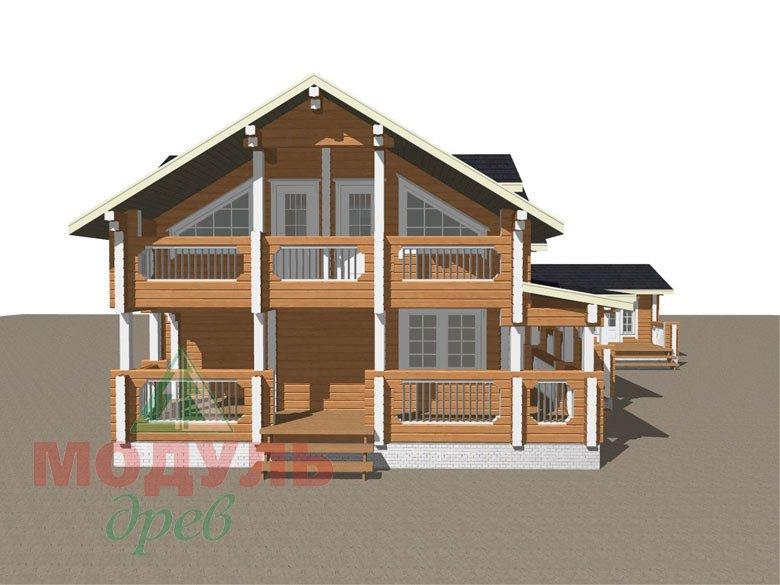 Проект дома из бруса «Янтарный» - макет 4