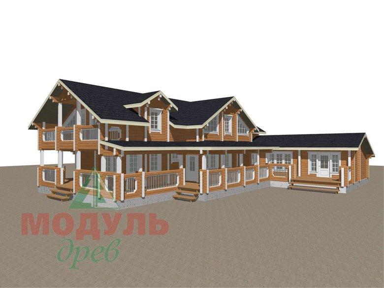 Проект дома из бруса «Янтарный» - макет 5