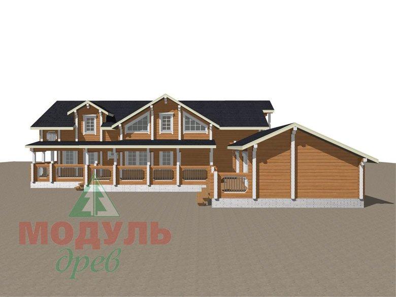 Проект дома из бруса «Янтарный» - макет 6