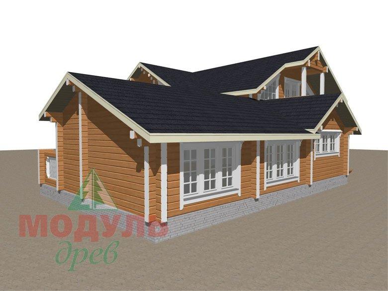 Проект дома из бруса «Янтарный» - макет 7