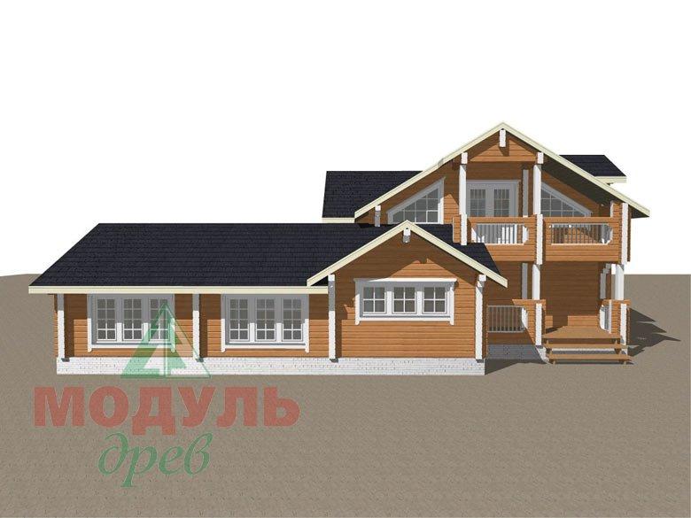 Проект дома из бруса «Янтарный» - макет 8