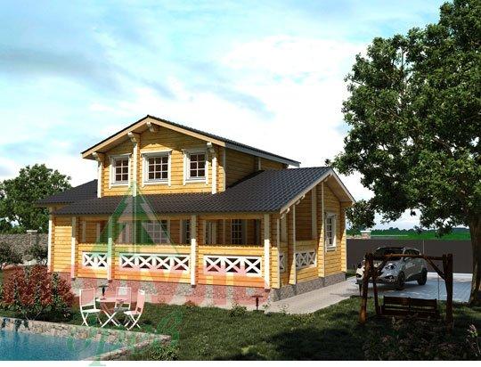 Проект дома из бруса «Ярославль»