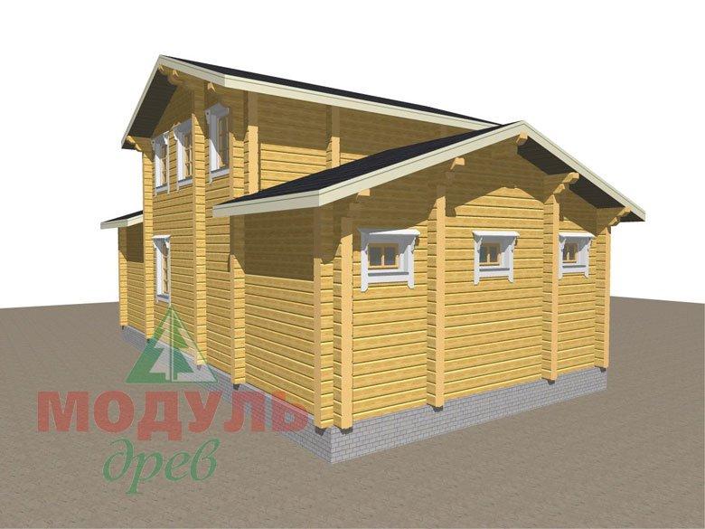 Дом из бруса «Ярославль» - Макет 5