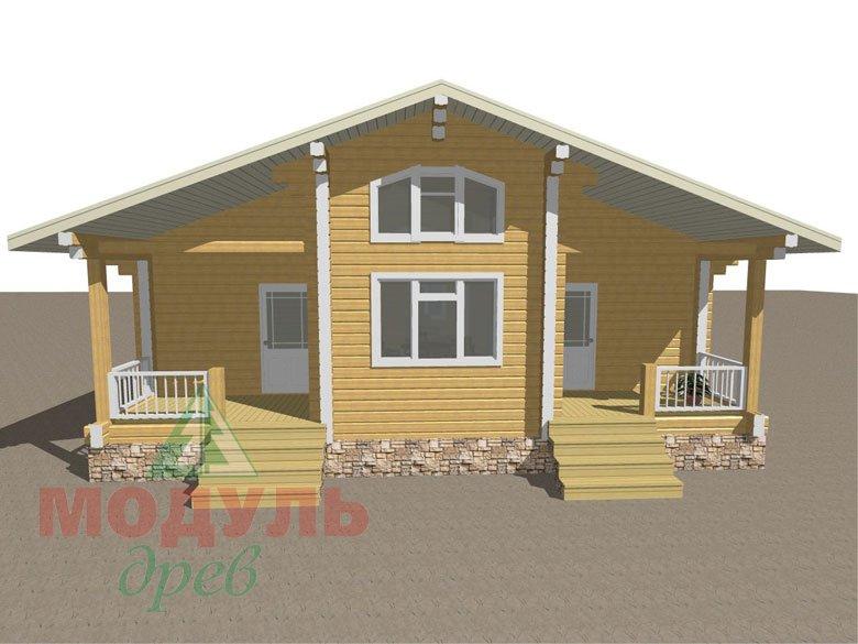 Проект дома из бруса «Заречный» макет 1