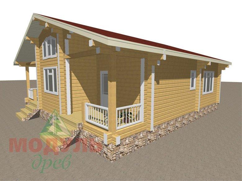 Дом из бруса «Заречный» макет 2