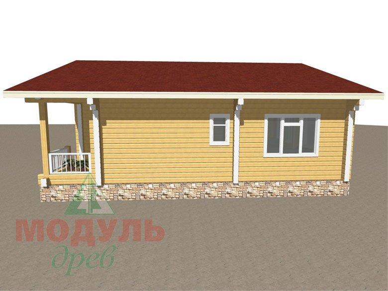 Дом из бруса «Заречный» макет 3