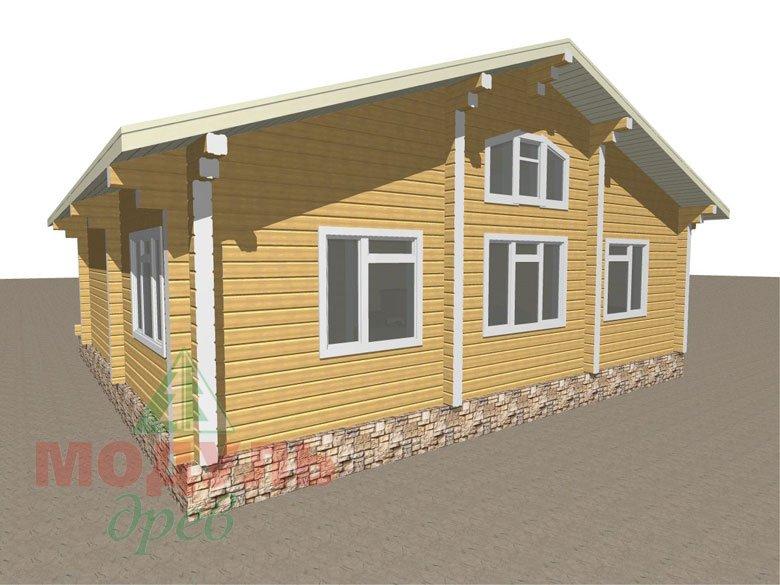 Дом из бруса «Заречный» макет 4