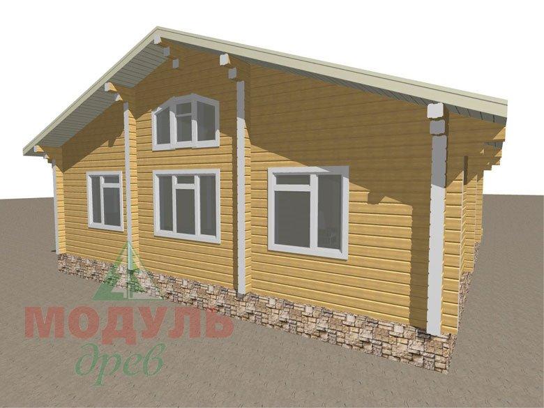 Дом из бруса «Заречный» макет 5