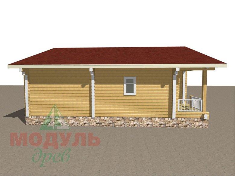 Дом из бруса «Заречный» макет 6