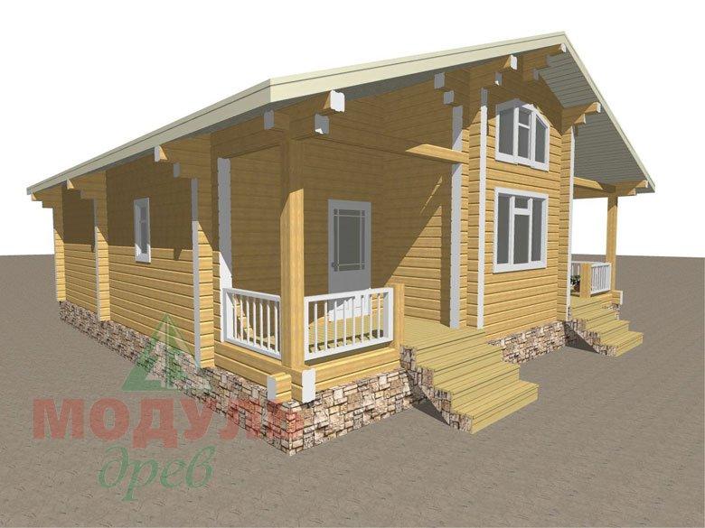 Дом из бруса «Заречный» макет 7