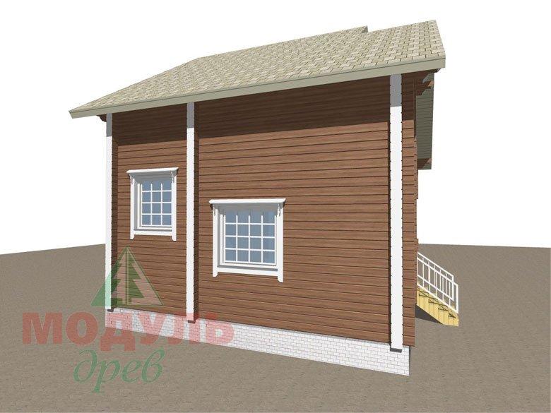 Проект дома из бруса «Жуков» макет 3